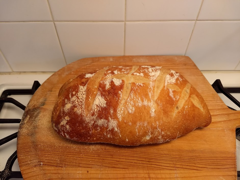Crusty Loaf of amazing, home-made Italian Bread