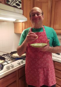 Terry Making Latkes