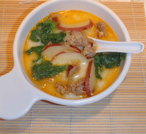 Zuppa toscana olive garden s italian sausage and potato soup for Olive garden potato sausage kale soup recipe
